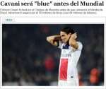 EL PAIS: Cavani va semna cu Chelsea inainte de inceperea Campionatului Mondial