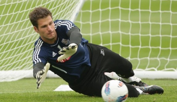 Stoke City's Asmir Begovic during a training session at the Clayton Wood Training Ground, Stoke On Trent. PRESS ASSOCIATION Photo. Picture date: Wednesday July 27, 2011. Stoke City face Hajduk Split in their Europa League third qualifying round match tomorrow night. See PA Story SOCCER Stoke. Photo credit should read: Dave Thompson/PA Wire.