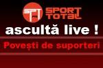 Sambata, 11 iulie, live la radio Sport Total FM de la ora 15:00