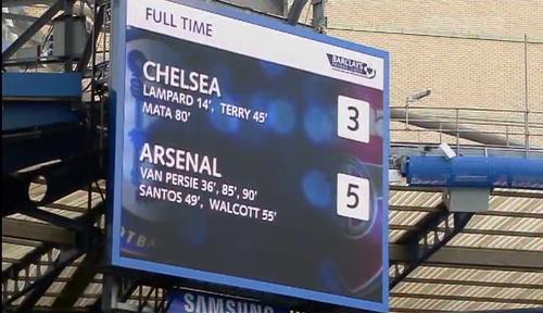 scoreboard chelsea 3 5 arsenal Viata fara Jose Mourinho